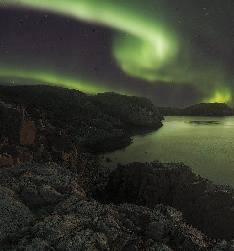 Северное сияние, Дальние Зеленцы, Aurora Borealis, Dal\'nie Zelentsy Безмятежностьphoto preview