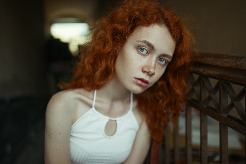 девушка, рыжая, кудряшки, sony alpha, sigma, 35mm, girl, portrait, beautiful Лераphoto preview