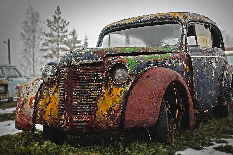 Старый автомобиль Сны о прошлом..photo preview