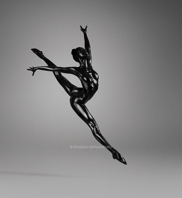 spirit, fine art, ballet, балет, гимнастика, гимнаст, хореография, ballerina, балерина, dance, танец,  скульптура, dancer, танцор, шпагат, bw, repiashenko, yevgeniy repiashenko, репяшенко, евгений репяшенко, painting, bodyart, бодиарт, black, чёрный photo preview