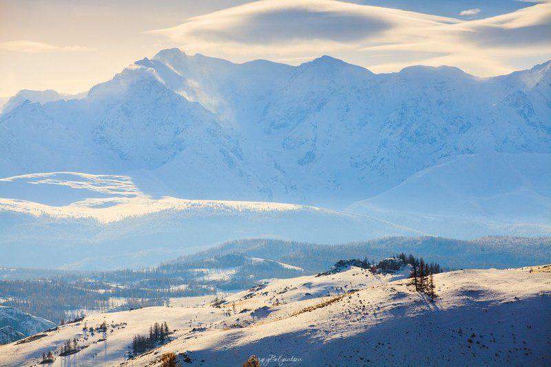 Горный, Алтай, горы, зима, ноябрь, снег Северо-Чуйский хребетphoto preview