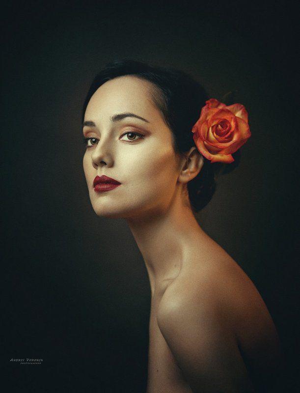 портрет,роза,глаза,девушка, Розаphoto preview