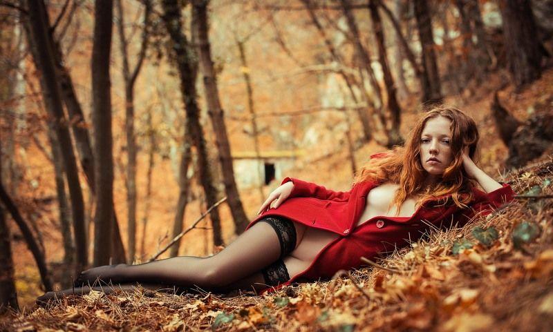осень, осенний лес,девушка, портрет,эротика,сексуальность, Осенняя чувственностьphoto preview