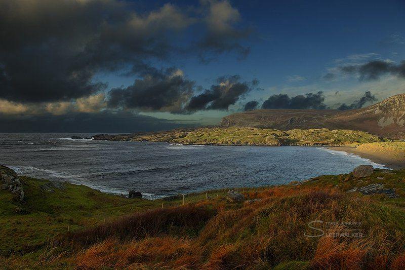 island, landscape, fall, autumn, sea, seaside, storm, sunset, sleepwalker Stormphoto preview