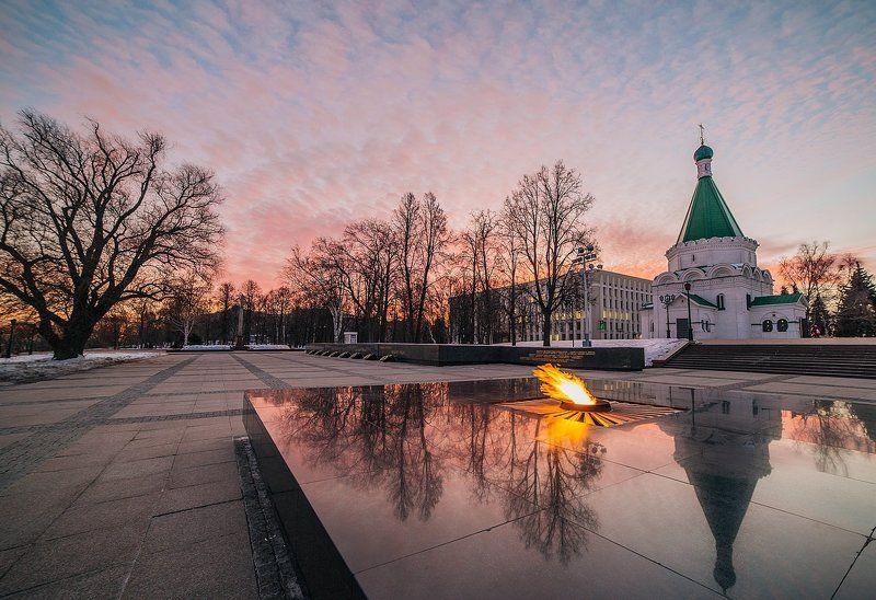 восход огонь Нижний Новгород Вечный огоньphoto preview