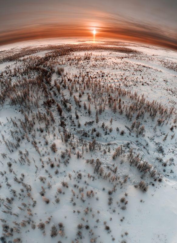 ямал, пейзаж, закат, дрон, phantom, земля, новыйуренгой, уренгой, тундра, россия Закат над лесотундройphoto preview
