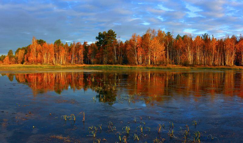 озеро арантур, отражения. осень, Осенние отраженияphoto preview