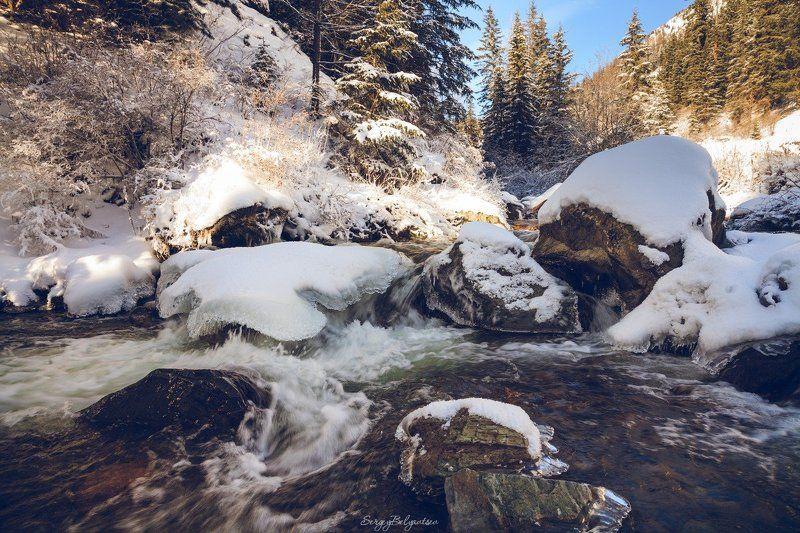 Горный, Алтай, Чибитка, река, ручей, зима, горы, лес Чибиткаphoto preview