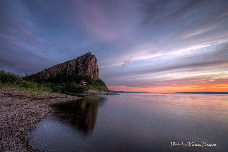 природа, закат, река, горы, р.лена, ленские столбы, якутия Июльский вечерphoto preview