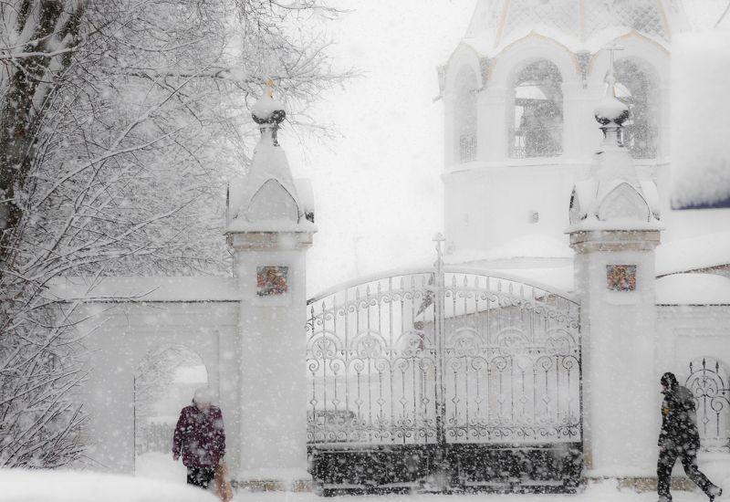 Вид на ворота Пощуповского Иоанно-Богословского монастыря.photo preview