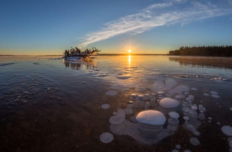 Первый лёд, Предзимье Прогулка по первому льду.photo preview