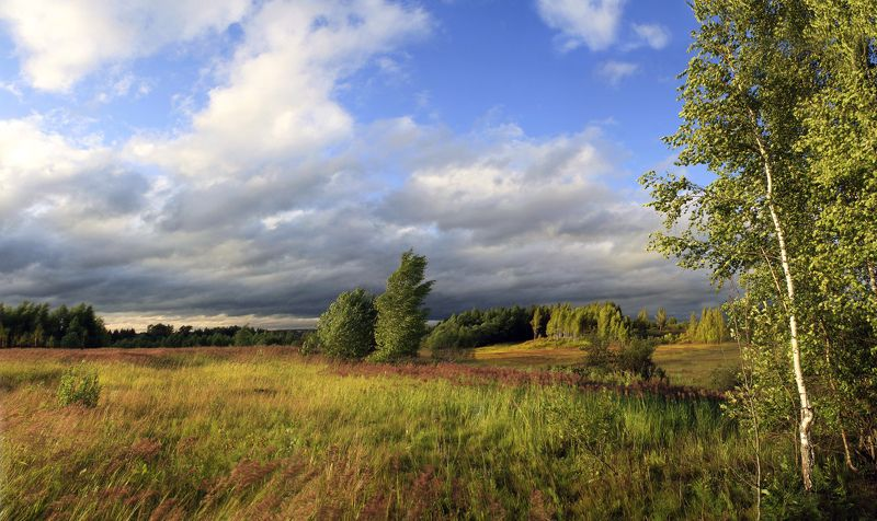 лето , облака Русский пейзаж )photo preview