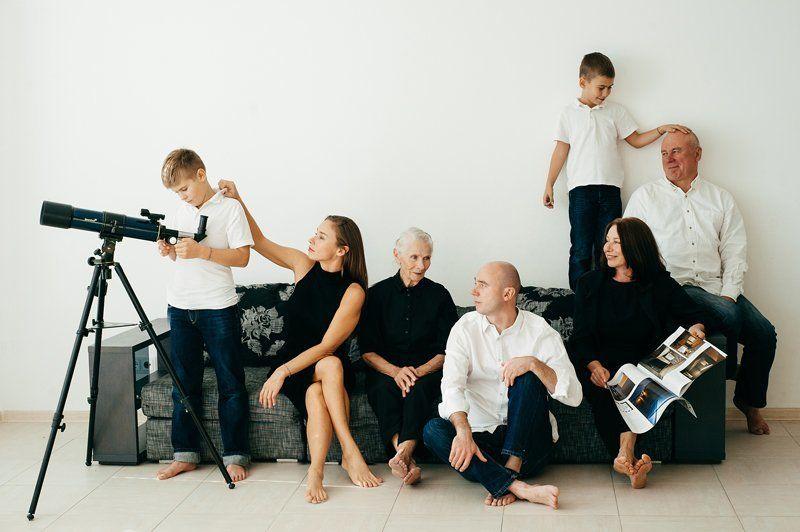 семейный портрет, семья вечер пятницы)photo preview