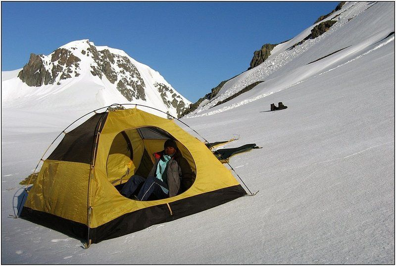 тянь-шань, ледник, палатка ...вот мой дом родной...photo preview