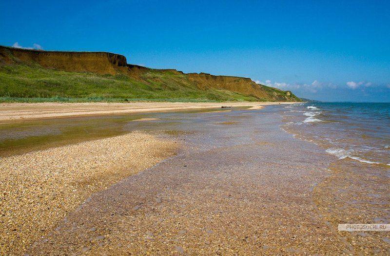 азовское море, таманский полуостров, лето, пляж, природа, пейзаж, песок Пляж на Азовском мореphoto preview