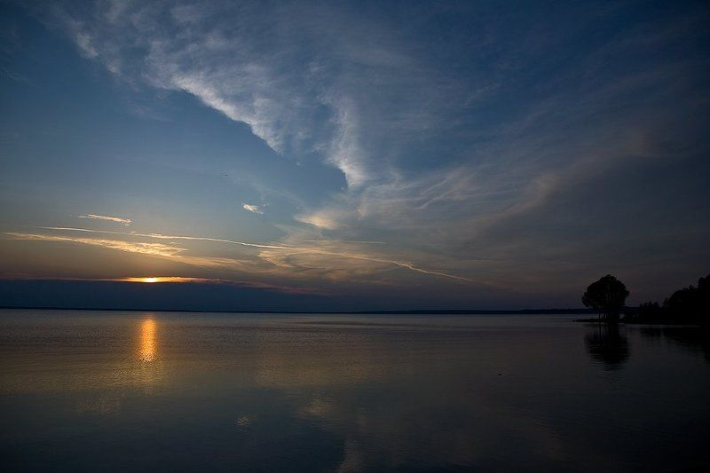 тишина, озеро, закат Тихий вечер...photo preview