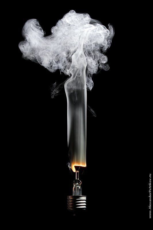 лампочки, 100, ватт, дым из серии 100W - или Как перегорают лампочкиphoto preview