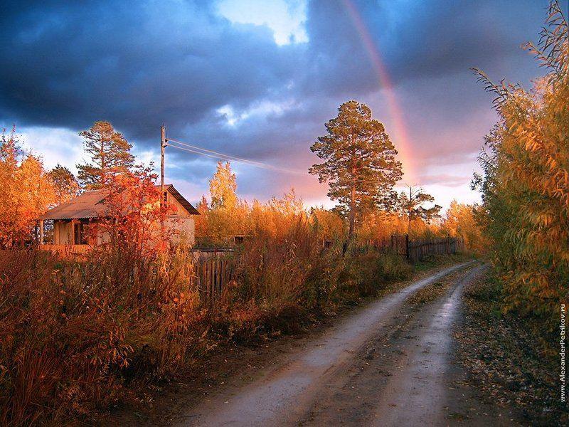 осень, тропинка, в, сказку, закат, радуга, лес Осень - тропинка в сказкуphoto preview