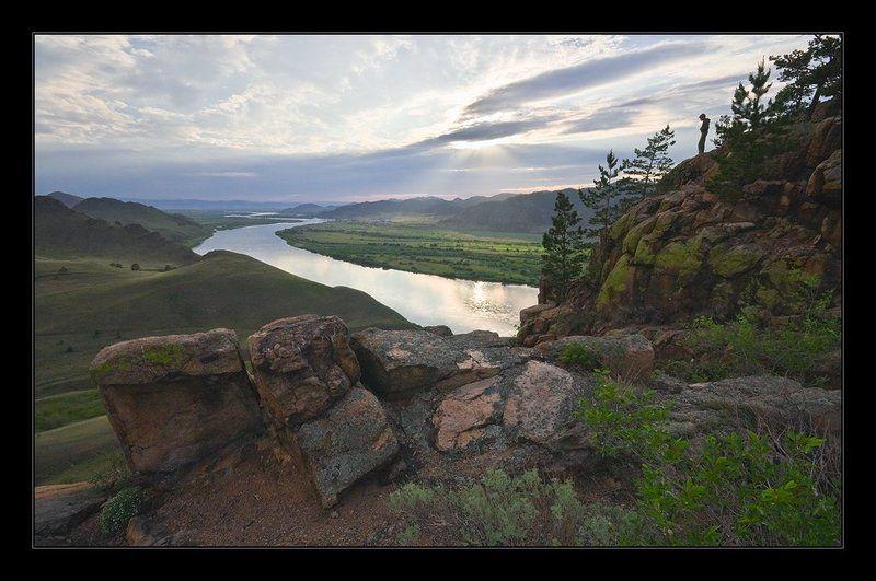 вечер, река, закат, камни Артурphoto preview