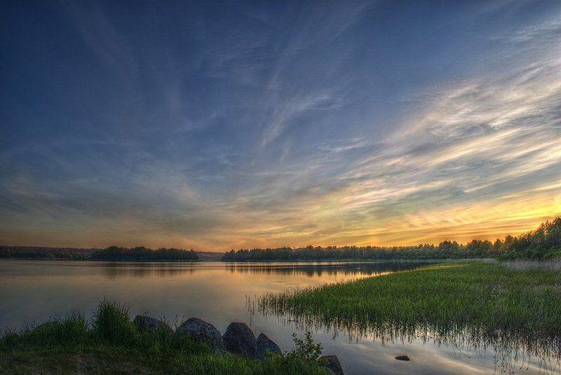 xdr,пейзаж,закат, небо, облака Закат на Вуоксе.photo preview