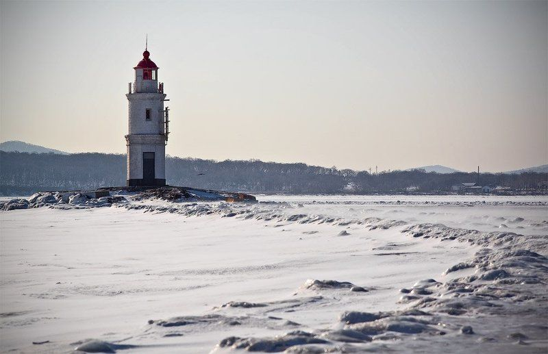 лед, поземка, маяк, зима, photo preview