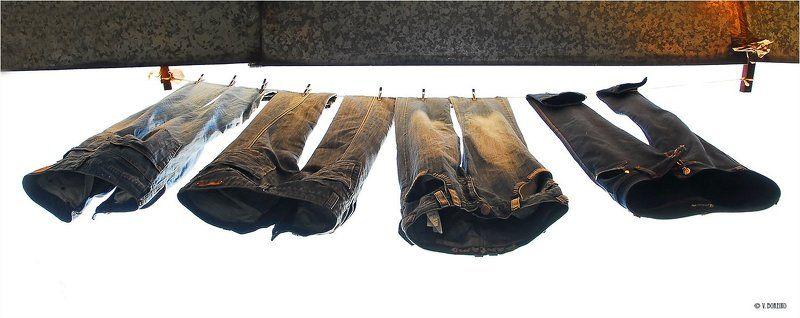 джинсы Джинсы соседа сверхуphoto preview