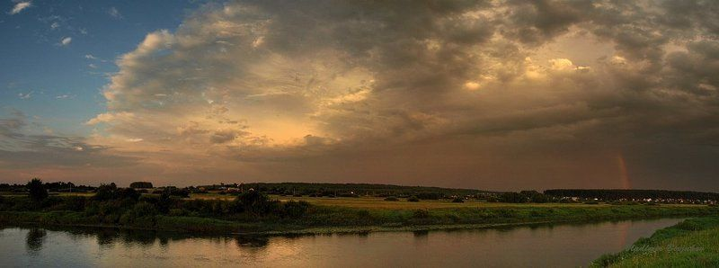 ...про вечер, речку, небо, радугу, уходящий дождь... )photo preview