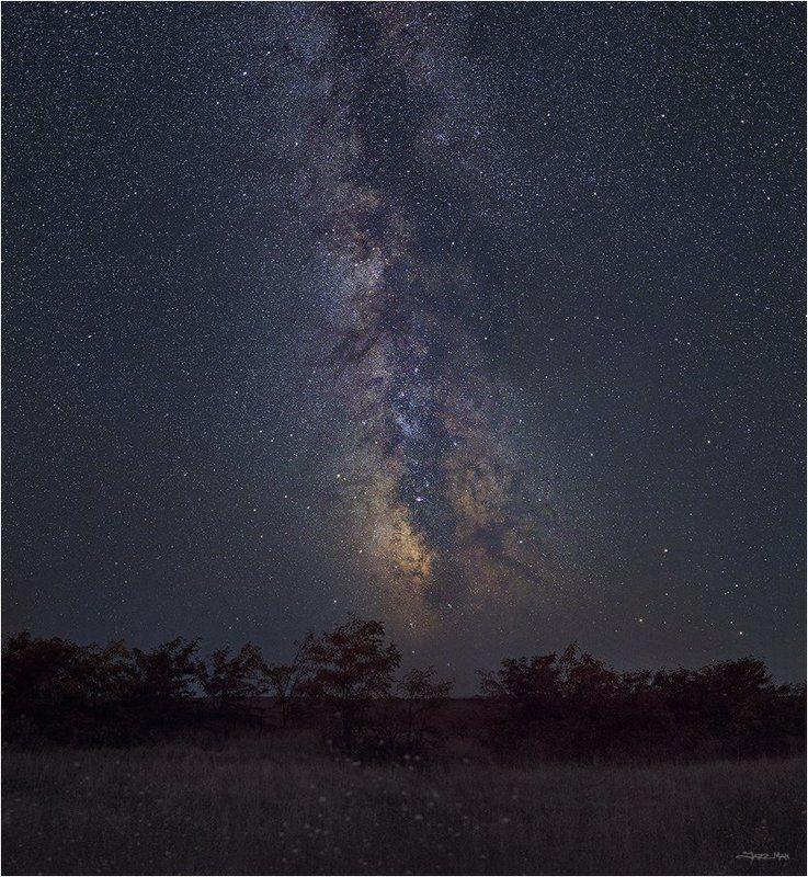 млечный путь, панорама, ночь, ночной пейзаж, звезды, звездное небо ...photo preview