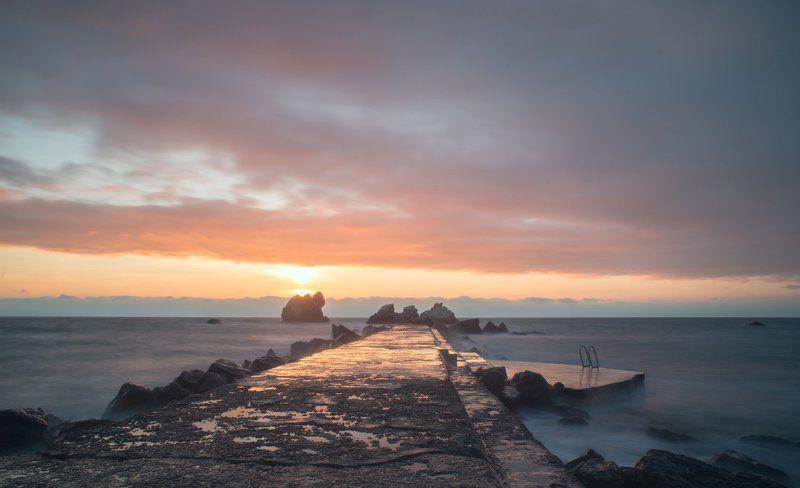 крым, море, горы, свет, закат, рассвет, природа, осень ***photo preview