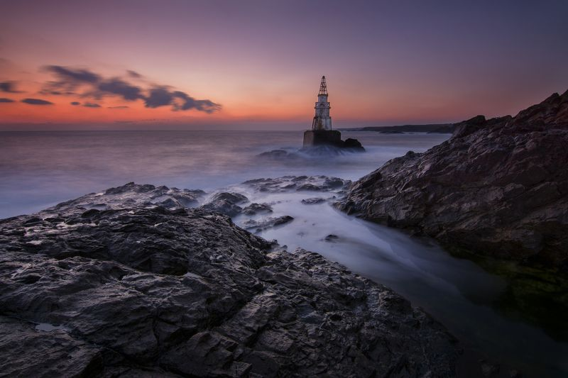 Bulgaria , sunrise , lighthouse , beauty , landscape, nikon Ahtopol Lighthouse before sunrise photo preview
