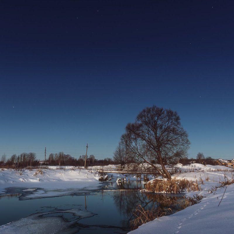 Дерево, Зима, Река, Утро Одно утро одного дереваphoto preview