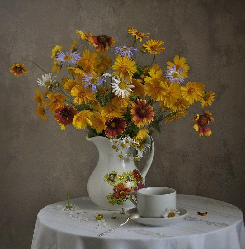 букет, лето, цветы Обласканы солнцем, умыты летним дождем...photo preview