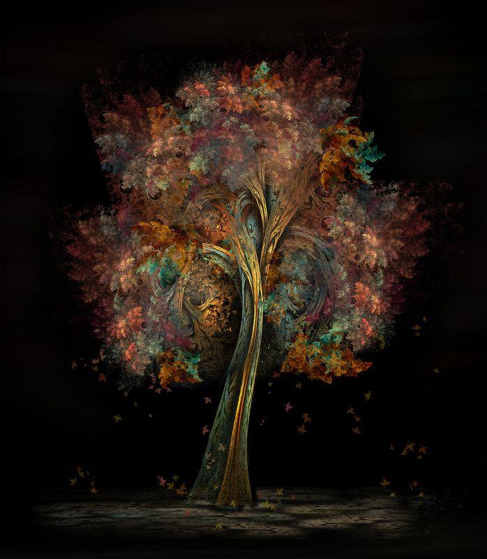 дерево,листья,краски Magic treephoto preview
