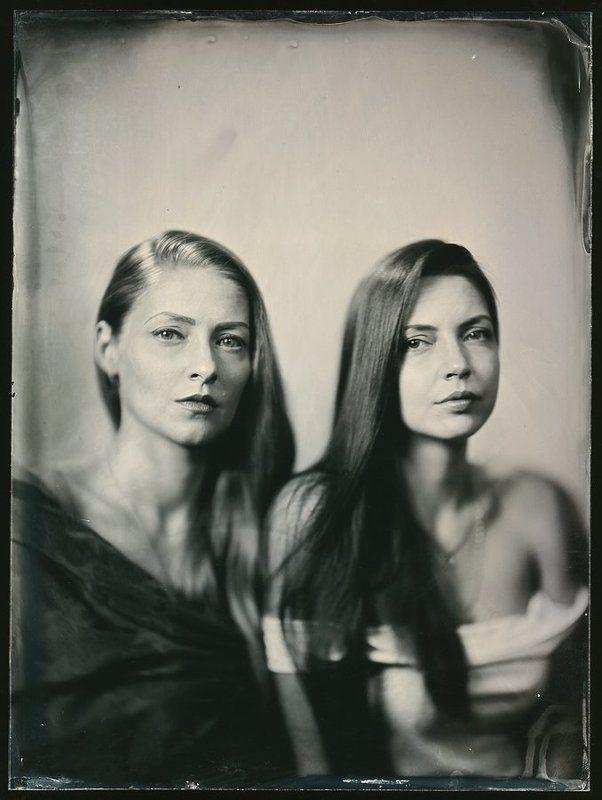 Ambrotype Сестры Анна и Мария.photo preview