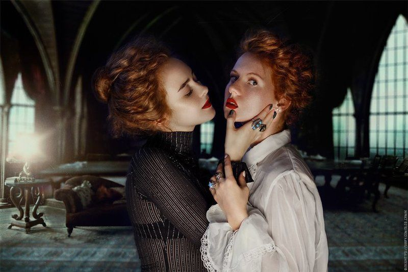 red, kiev, kyiv, girls, woman, cute, portraits, sexy, redhead, sisters, photography, vamp, gothic, ginger, fine, art, mistery, red, fox, firehair, ermak olegermak, Vampphoto preview