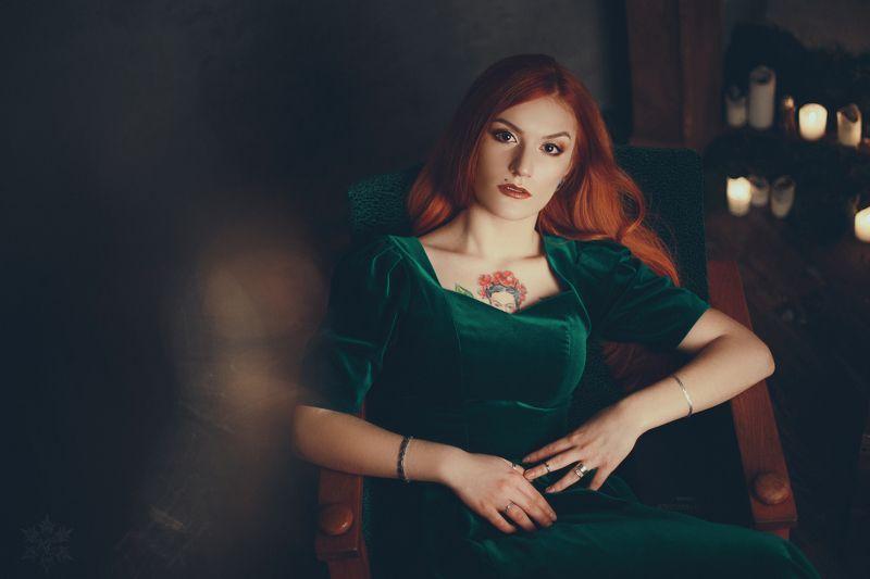 огонь, рыжая девушка Victoriaphoto preview