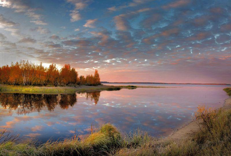 арантур, озеро, кондинские озера, Осень в устье рекиphoto preview