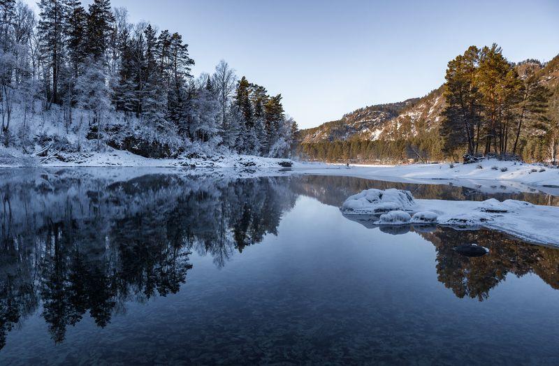 Голубые озера, Чемальский район, Горный Алтай.photo preview