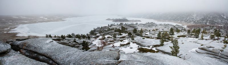 Казахстан Низкая облачность на озере Торайгыр.photo preview