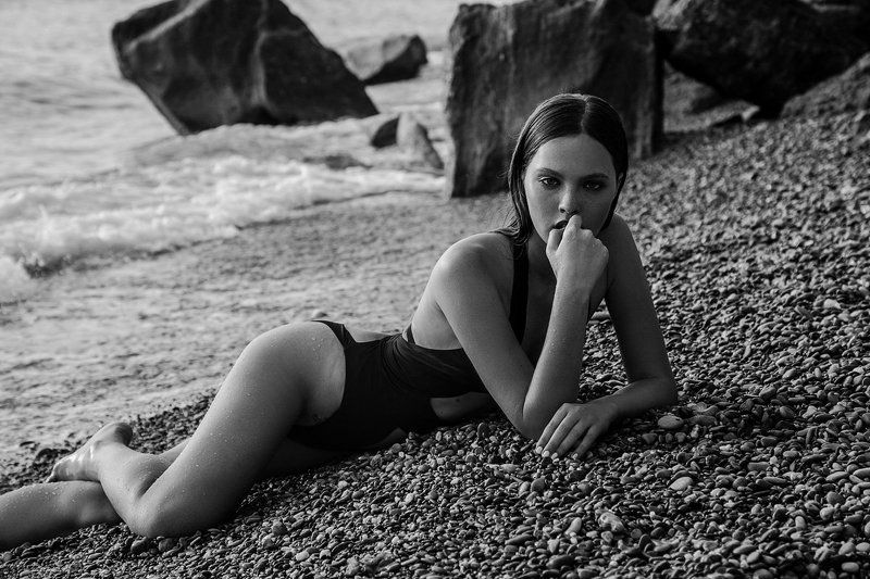 beautiful, black & white, black and white, portfolio, portrait, sea, море, девушка, чб, купальник, сьемка, model, crimea, fashionphoto, fashion, photo, beauty, Black seaphoto preview