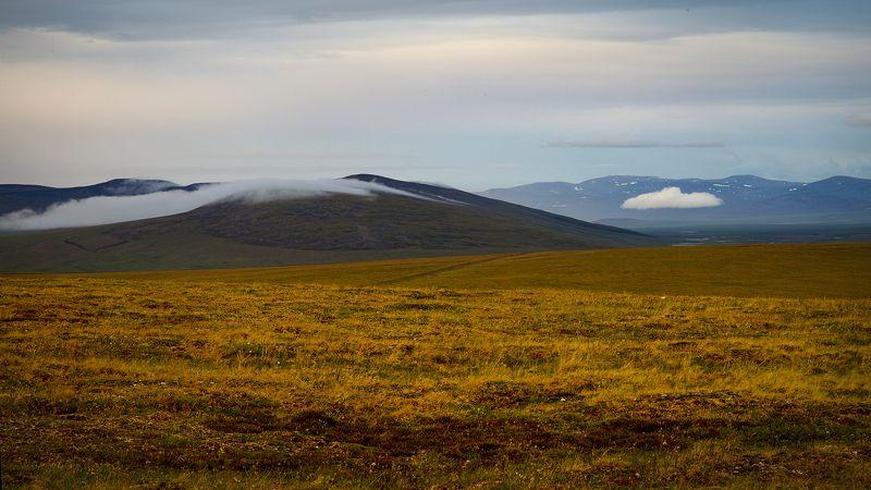 север, тундра, сопки, чукотка, пейзаж, природа, облака, небо, Тучки спать ложились...photo preview