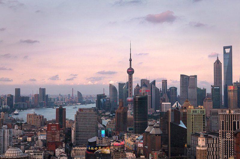 шанхай, китай, shanghai, china Shanghai skyline. China.photo preview