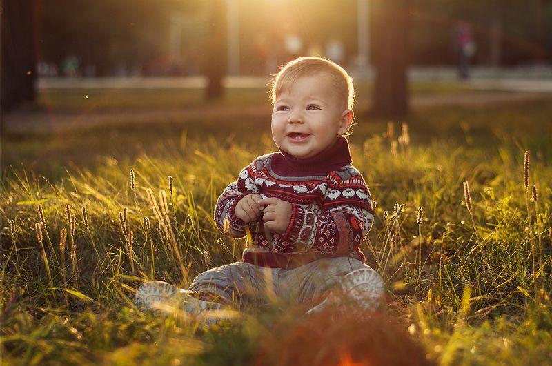 ребенок, малыш, детство, счастье, улыбка, портрет, smile, portrait, natural light, sun, happy, sunset Теплый вечерphoto preview