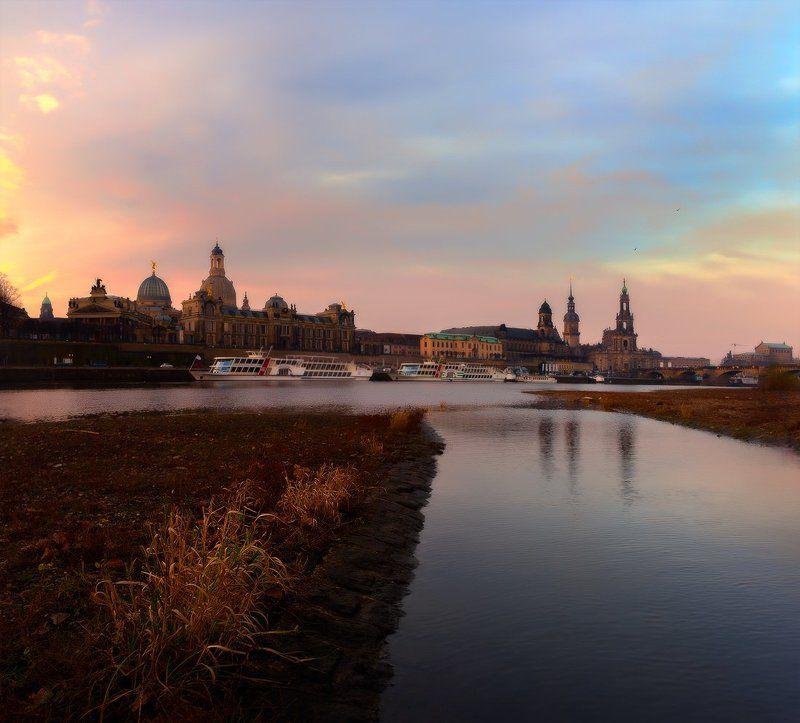 город, утро, пейзаж, дрезден, dresden, рассвет Dresdenphoto preview