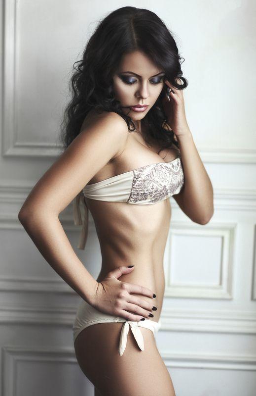 model, beautifull, girl, studio, brunette. ...photo preview