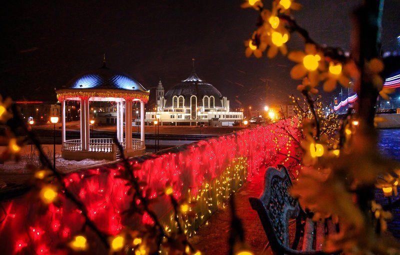 Архитектура, Город, Новый год, Ночь, Тула Тула предновогодняяphoto preview