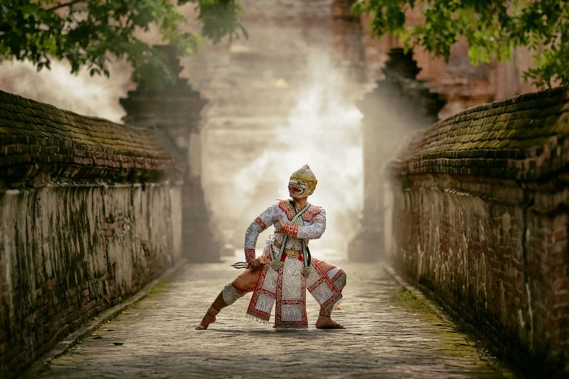 thailand,performance,ramayana,monkey,arts,asia,asian HANUMANphoto preview