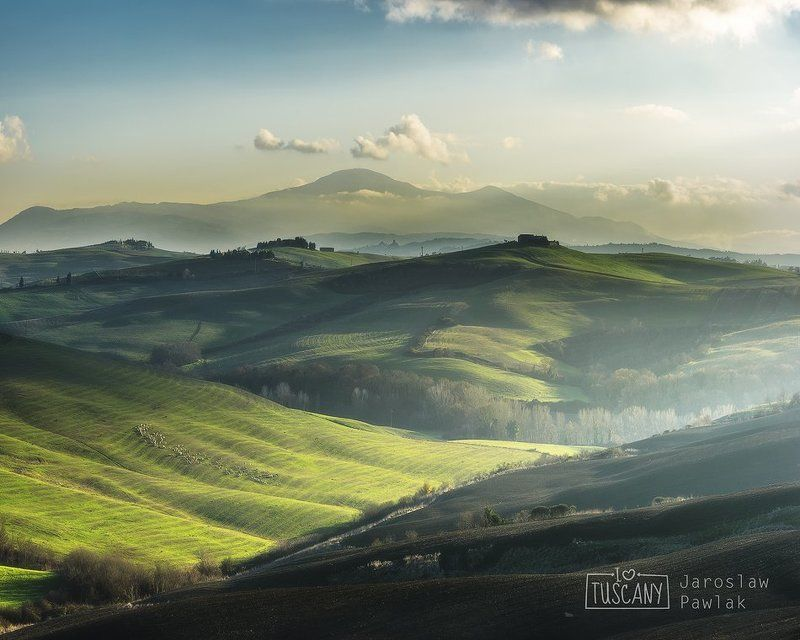 italy, countryside, rural, tuscany, nature, house, green, landscape, hill, spring, italian, meadow, cypress, beauty, tuscan, idyllic, country, agriculture, tree, farmhouse, peaceful, scenic, morning, view, summer, scene, italia, haze, europe, fog, garden, Tuscany Winterphoto preview
