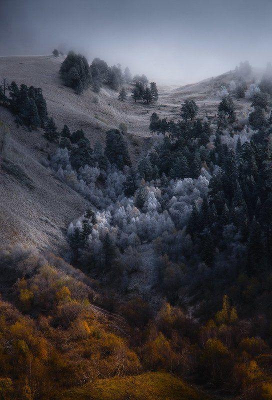 архыз, кавказ, горы, осень, зима Осенне-зимний градиентphoto preview