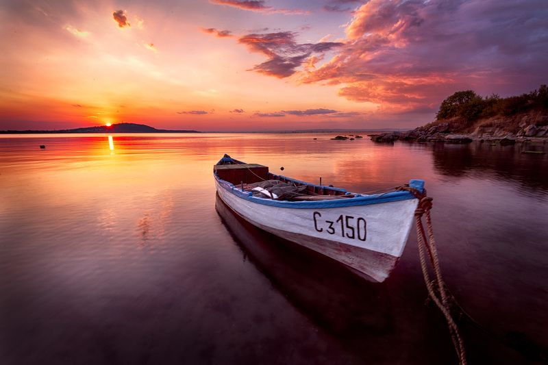 boat, sunset, waterskape,  Лодка дядя Иван / The Boat Uncle Ivanphoto preview